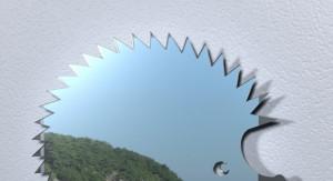 Зеркало из оргстекла в форме ёже
