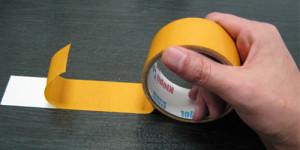 Двусторонний скотч для склейки оргстекла с материалом