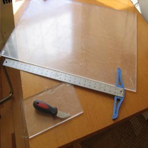 Первые инструменты при резке оргстекла