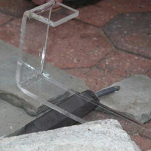 Оргстекло выгнутое с помощью температуры 160 градусов